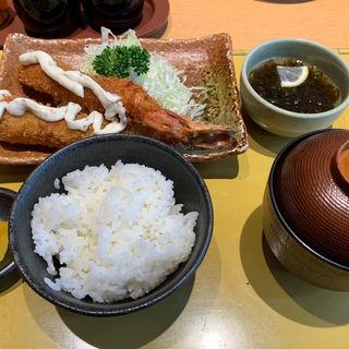 エビフライ定食(まるは食堂 中部国際空港店)