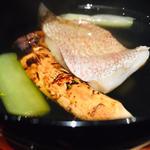 早松茸と小鯛の土瓶蒸し風お椀