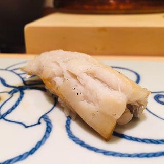 玄界灘産炙り太刀魚(鮨 料理 一高)