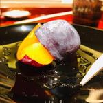 高間産プルーンの黒糖煮詰め(鮨 料理 一高)