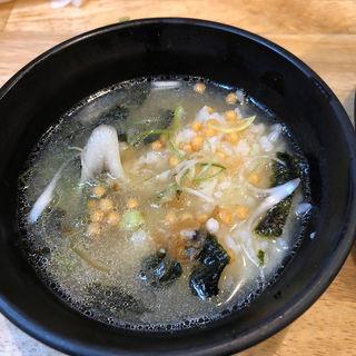 〆のわさび飯(白露らーめん煮卵入り用)(福島壱麺 (イチメン))
