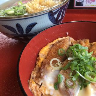 ミニカツ丼セット(たきちゃんうどん)