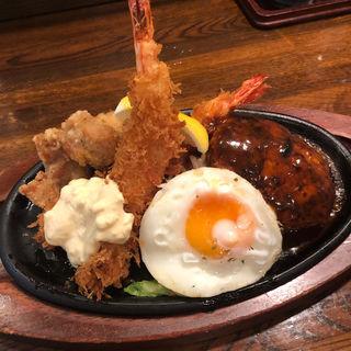 エビフライ&ハンバーグセット(ぶどう亭 )
