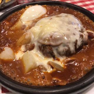 チーズ焼きハンバーグ(どんぐり)