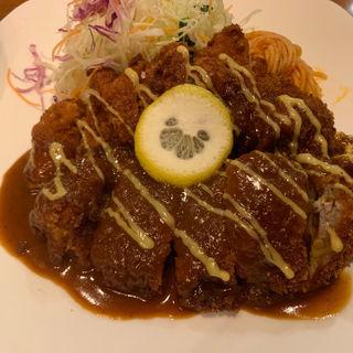 チキンカツ定食(ロイン 三宮店 )