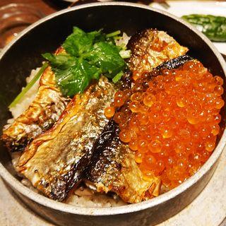 秋刀魚といくらの釜めし(かまどか 京急川崎駅前店)
