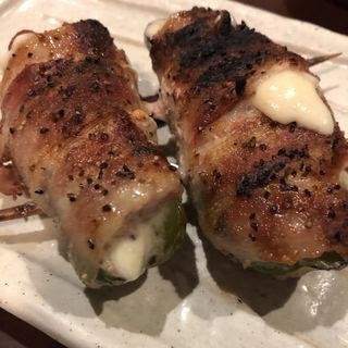 ピーマン巻き(チーズ入り)(鳥芳 本店 (とりよし))