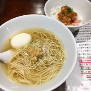 かけらー麺定食(塩生姜らー麺専門店 MANNISH (マニッシュ))