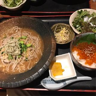 深大寺そばとミニいくら丼(乃'SAN (ノッサン))