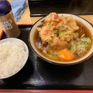 天玉そば➕半ライス(そばよし)