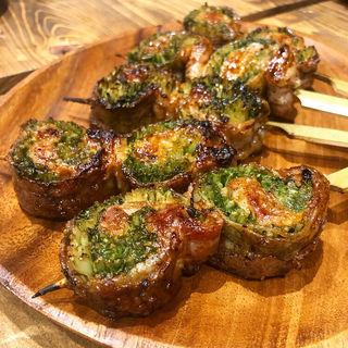 水菜の肉巻き(炭焼スタンドツジヤ)