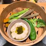 野菜のせいろ蒸し盛り合わせ(旬菜Agro)