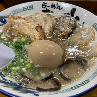 炭火チャーシュー麺 煮玉子入り(ラーメンおいげん 本店)