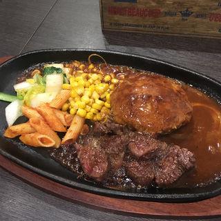 ステーキ&ハンバーグコラボランチ(姫路イタリアン MARBLE)
