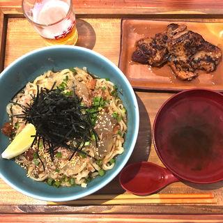 ポン酢ジュレまぜそば(オキナワ ソバ エイブン (Okinawa Soba EIBUN))