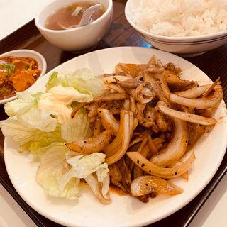 ラム肉の生姜焼定食(味坊)