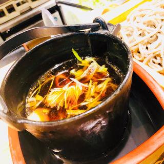 燻製鴨肉のつけ蕎麦(香るつけ蕎麦 蕎麦花 )