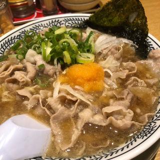 肉そば 肉ダブル(丸源ラーメン 高石店 )