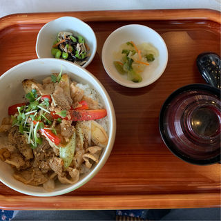 牛肉と長ネギの激旨丼(仙台クラシックゴルフ倶楽部)