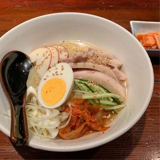 比内地鶏スープの冷麺(炙屋 十兵衛 二日町本店 (あぶりや じゅうべえ))
