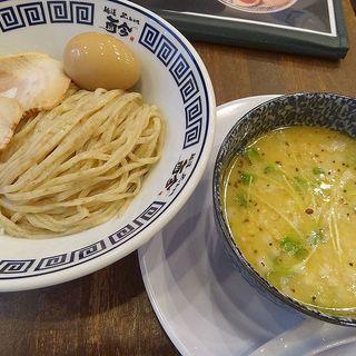 味玉 水出し昆布の塩つけ麺(麺道 而今 茨木店)