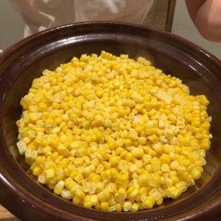 玉蜀黍の土鍋ごはん(太月)