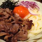 オリーブ牛の焼肉 ビフ玉うどん(期間限定)