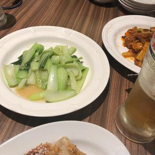小松菜のにんにく炒め(東京餃子軒)