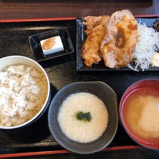 生姜焼き定食(まる さんかく しかく )