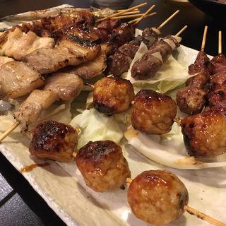 おまかせお得な串盛り 10本(焼鳥はなび)