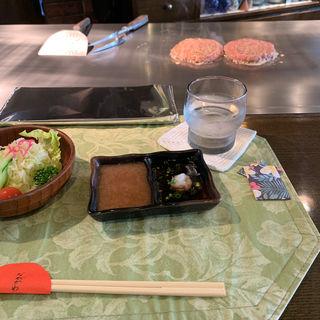 限定ハンバーグ定食(ビーフキッチン ながかわ)