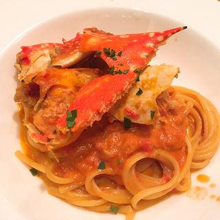 渡り蟹のトマトクリームソース リングイネ