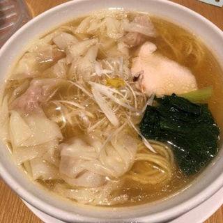 鶏塩ワンタン麺(銀座 朧月 (おぼろづき))
