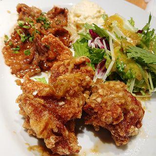 牛カルビ焼肉&油淋鶏(エビスバー アゼリア店)