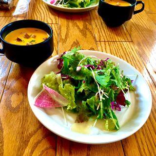 パンプキンの冷製スープ(スモーブローキッチン中之島)