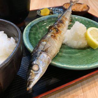 さんま塩焼き定食(酒処 やまね )