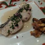 鰆の塩糀焼き 紫蘇の実香る餡 松の実茗荷味噌