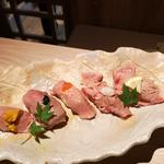 肉寿司盛り合わせ5種(酒友 はなび 梅田店)