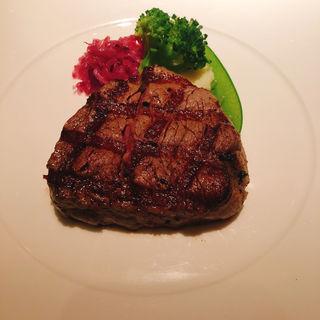 US産  牛フィレ肉のステーキ(カフェ カリフォルニア )