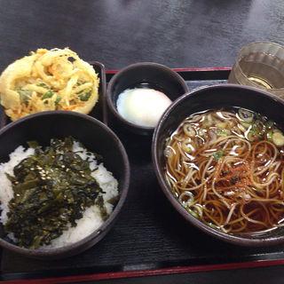 朝定食Bセット かきあげ無料クーポン利用(ゆで太郎 新木場江東店 )