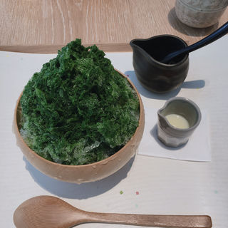 抹茶かき氷 (山本山 フジエ茶房)