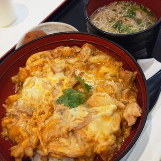 名古屋コーチン親子丼 鶏そばセット(鶏三和 ラゾーナ川崎店)