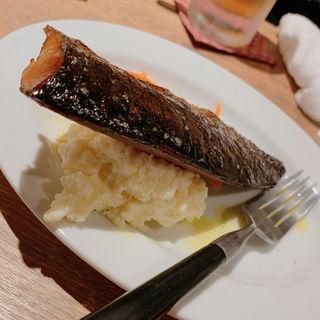 鯖の燻製ポテトサラダ