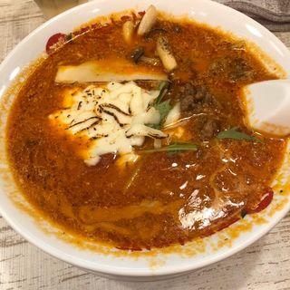 とろ〜り炙りモッァレラのトマト坦々麺(太陽のトマト麺 福島駅前支店 )