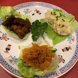 前菜の三種盛り合わせ(広州飲茶料理 麦府(BAKUHU))