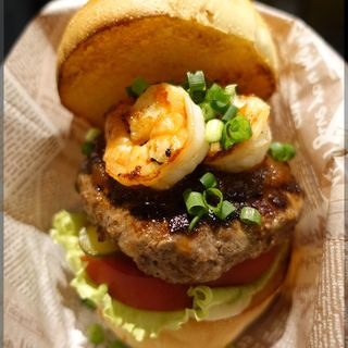 Special Burger グリル海老バーガー 特製BBQソース(Goodbeer STAND Kitte博多店)