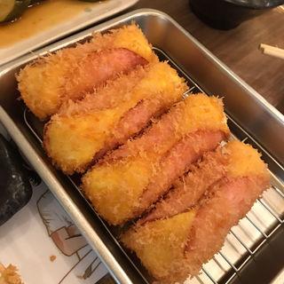 ハムカツ(堂山食堂)