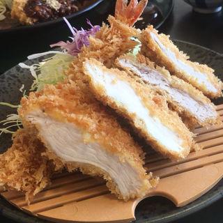 ミックスかつ定食(楽一楽座 桶狭間店 )