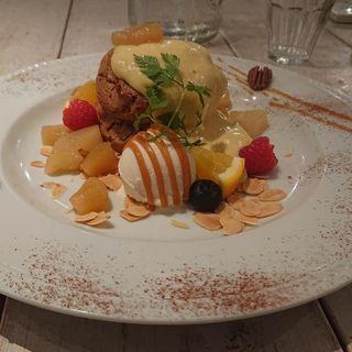 りんごと紅茶のグルテンフリーパンケーキ(アインソフ ジャーニー (AINSOPH.JOURNEY))