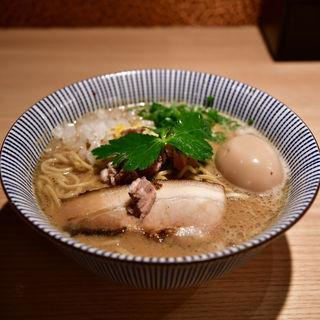 ラム煮干中華そば(味玉)(自家製麺 MENSHO TOKYO)